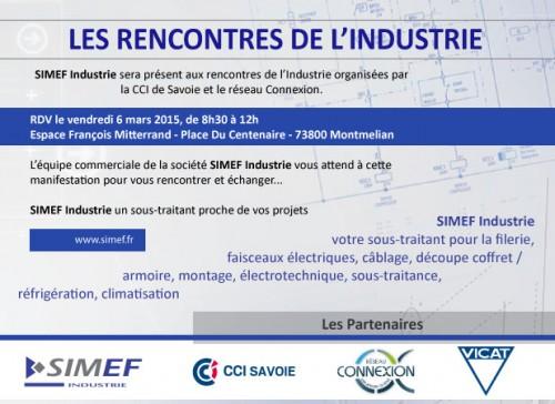 RENCONTRE DE L'INDUSTRIE 2015 - SIMEF Industrie - Espace François MITTERAND - Vendredi 6 Mars